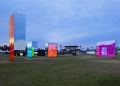 Neon mirrors by Phillip K Smith III were glowing beacons at Coachella | tatarartprojects.ca #tatarartprojects