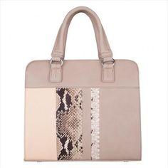 Handbag o bolso de mano, elegante combinación de colores, con imitación de piel de cocodrilo, muy actual y versátil. Mayoristas de bolsos,  bolsas, carteras. http://intueriecommerce.com