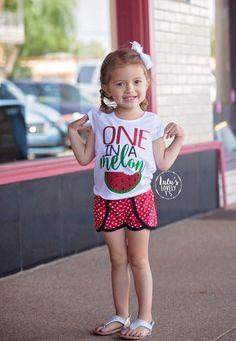 One in a Melon, Watermelon Tshirt, Summer Shirt, Sweet Shirt, Glitter Tee, One in a Million, Summer Tshirt, Watermelon, Girls Shirt, Toddler