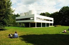 Located outside of Paris in Poissy, Villa Savoye is the best illustration of Le Corbusiers five points of architecture. A modern take on a French country house, the home is still considered to be one of the most significant contributions to modern architecture in the 20th century. #dwell #moderndesign #modernarchitecture