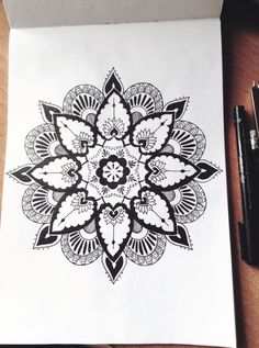 """Mandala Designs, allons-y-doctor-who: My drawing. Not my idea"" Lotus Mandala, Mandala Tattoo, Mandala Art, Mandalas Painting, Mandalas Drawing, Mandala Design, Zentangle Patterns, Zentangles, Zen Art"