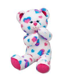 A bear from build-a-bear! Soo cute I wanna make one! Giant Stuffed Animals, Dinosaur Stuffed Animal, Stuffed Toys, Custom Teddy Bear, Teddy Bear Pictures, Teddy Bear Clothes, Cute Teddy Bears, Build A Bear, Childhood Toys