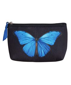 Loving this Coyne's & Company Blue Butterfly Cosmetic Bag on #zulily! #zulilyfinds