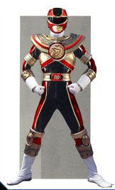 Another oldie. Combining the elements of the Red Ranger uniform with the Gold Zeo Ranger.