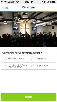 Cornerstone Community Church in Rocky Mount, North Carolina #GivelifyChurches