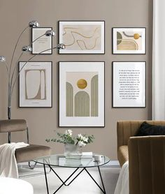 Beige & Gold gallery wall Estilo Interior, Nordic Interior, Interior Styling, Picture Wall Living Room, Modernisme, Desenio Posters, Gold Poster, Wall Accessories, Inspirational Wall Art