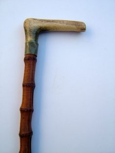 Victorian Horn Handled Walking Stick with Horn by BiminiCricket