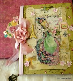 Sweet Marie Large Journal With Extra Ephemera Scrapbook