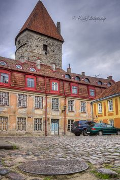 Old buildings full of color -- Tallinn, Estonia -- Travel Photography -- Photograph by Kiba Photography  Wall Art, Street Picture, Landscape Photography, Architecture, Old City