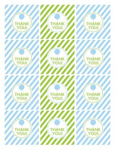 free printables boy birthday favor tags blue green