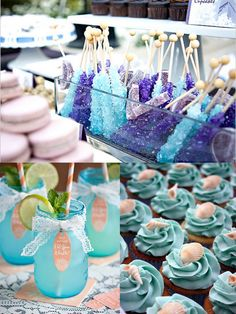 aqua bridal shower menu ideas