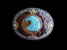 Turquoise Eagle Southwestern Mosaic Belt by KateSutcliffeMosaics, $95.00
