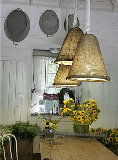 burlap lights ~
