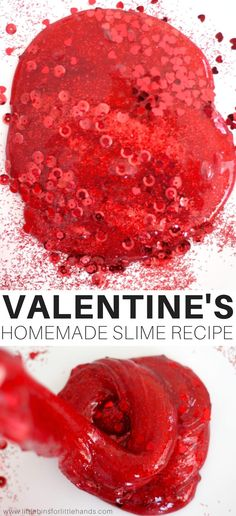 Learn How To Make Valentines Day Slime with Homemade Slime Recipes