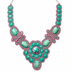 *Click through to buy.Deco Floral Bead Necklace Jazz up your dresses and tops with some amazingly eye catching statement necklaces. An easy way to add colour and pull outfits together.