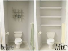 above toilet storage diy - Google Search