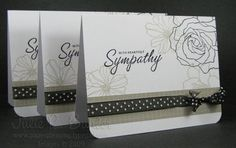 great sympathy cards by Julie Buhler using SU's Fifth Avenue stamp set