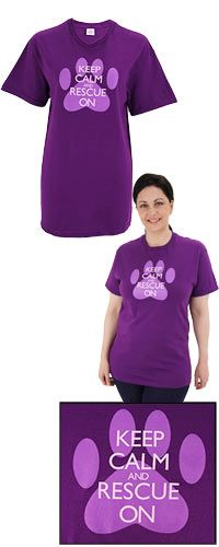 Keep+Calm+&+Rescue+On+T-Shirt+at+The+Animal+Rescue+Site
