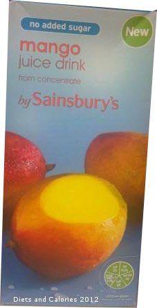No Added Sugar Mango Juice Drinks from Sainsbury's