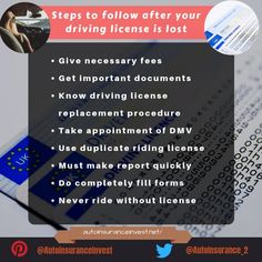 Have you ever lost you riding license while riding? Are you aware of the process of getting or replacing a driver license? Safe Driving Tips, Driving Rules, Driving Test, Driving School, Lost, Parts Of The Mass, Driving Training School