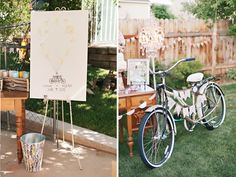 darling balloon finger print sign in board for your guests! photography by @Mikki Platt