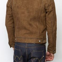 Brown Suede, Suede Leather, Leather Jacket, Westerns, Biker, Denim, Jackets, Clothes, Color