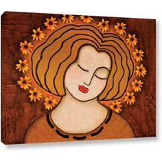 Gloria Rothrock Flowering Intuition Gallery-Wrapped Canvas, Size: 14 x 18, Brown
