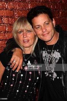 Actor Corey Haim (R) poses with his mother, Judy Haim, at the A&E Premiere Of 'The Two Coreys' held at Sugar nightclub on July 27, 2007 in Hollywood California.