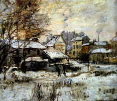 Claude Monet, Snow Effect with Setting Sun