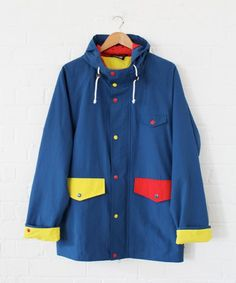 Lazy Oaf Mens Anorak. I know this is for a boy, but I want it! #RaincoatsForWomen