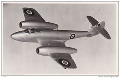 "RP: Gloster ""Meteor F. 4"" airplane , UK , 40-50s"