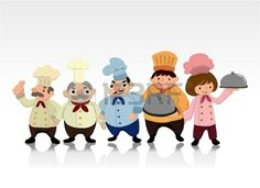 tarjeta de cocinero de dibujos animados Foto de archivo