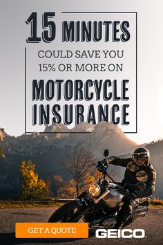 Before your next ride into the sunset, know this: 15 minutes could save you or more on motorcycle insurance. Find out how much you could save and get a motorcycle insurance quote with GEICO today. Low Car Insurance, Insurance Quotes, Freedom Insurance, Insurance Companies, Scooter Motorcycle, Scrambler Motorcycle, Motorcycle Design, Old Pickup Trucks, Big Trucks