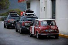 "Rauno Aaltonen driving the ""little"" Mini"