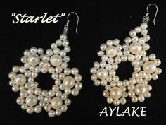 Easy and pretty earrings. Fast video tutorial.