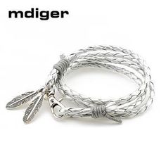 Leather Bracelets Charm Gift Bangles Multilayer Feather Bracelet Acces                      – Dolphin Buy Now