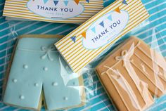 Surf/Beach themed cookie favours