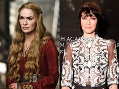 Game of Thrones  - Lena Headley  in and out of costume  2013