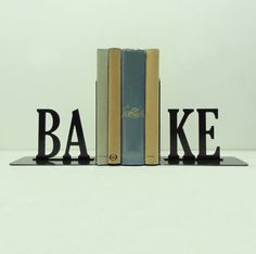 Bake Text Metal Art Bookends Free USA By KnobCreekMetalArts, $62.99 Metal  Art, Bookends,