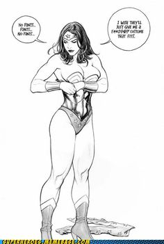 Poor Diana. DC aren't even sure what her powers are, let alone where she keeps her boob tape.
