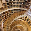 wine shop in Bordeux, France - the higher you go up the stairs the more expensive the wine.