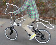 Geweldig voor de hoofdcowboy, deze tot trouw paard omgetoverde fiets!