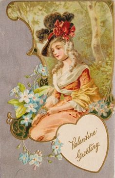 Amazing card! Vintage Valentines postcard! Love it!!!