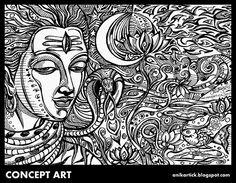 LORD SHIVA - DRAWING / SKETCH / DOODLES / ILLUSTRATION / CONCEPT ART / CREATIVE WORK / - Artist Anikartick,Chennai,TamilNadu,India