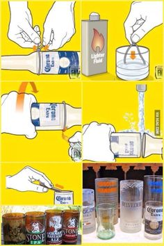 1000 ideas about beer bottle glasses on pinterest beer for Alcohol bottles made into glasses