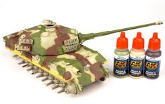The Modelling News: Andy finishes Meng Models scale King Tiger Henschel Turret with AK shades. The Modelling News, Tiger Ii, Tiger Tank, Camo Colors, Model Tanks, Ww2 Tanks, Panzer, Model Building, Hobbies And Crafts