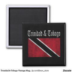 Trinidad & Tobago Vintage Magnet.