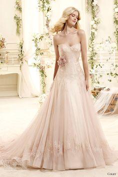 colet bridal 2015 style 3 coab15280pk sweetheart strapless a line blush color wedding dress