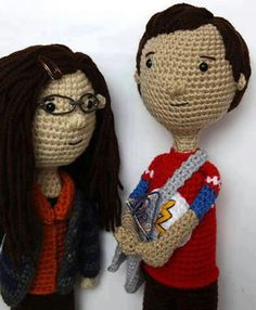 Amy and Sheldon dolls ~ Big Bang Theory SHAMY RULES