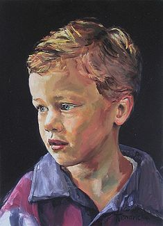 Portrait of a boy -- by Guus Hendrickx Dutch) Acrylic Portrait Painting, Watercolor Portraits, Portrait Art, Painting & Drawing, Watercolor Paintings, Human Face Drawing, Eye Art, Colorful Drawings, Life Drawing